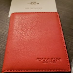 Coach ID and credit card Wallet